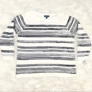 Karen Scott 2X Striped Pull Over Knit Sweater New
